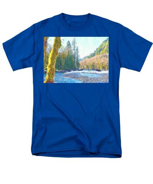 North Fork Of The Skykomish River Men's T-Shirt  (Regular Fit) by Tobeimean Peter