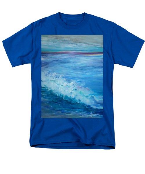 Ocean Blue Men's T-Shirt  (Regular Fit)