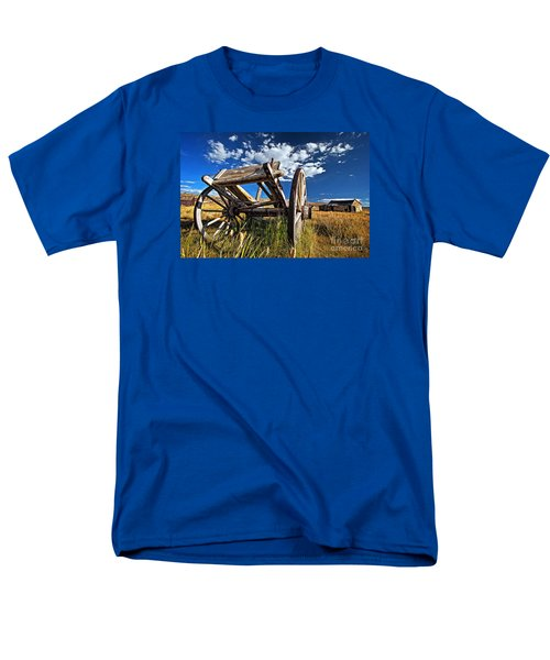 Old Abandoned Wagon, Bodie Ghost Town, California Men's T-Shirt  (Regular Fit) by Sam Antonio Photography