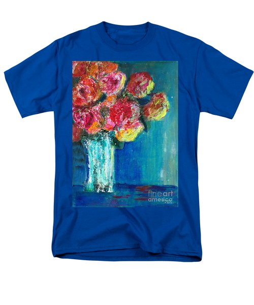 Old Roses Men's T-Shirt  (Regular Fit) by Veronica Rickard
