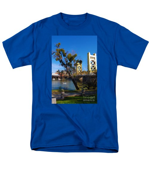 Old Sacramento Tower Bridge Men's T-Shirt  (Regular Fit) by Debra Thompson
