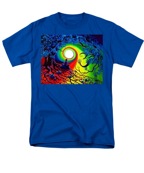 Om Tree Of Life Meditation Men's T-Shirt  (Regular Fit) by Laura Iverson