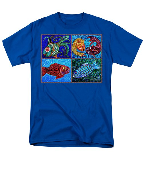 One Fish Two Fish Men's T-Shirt  (Regular Fit) by Sarah Loft