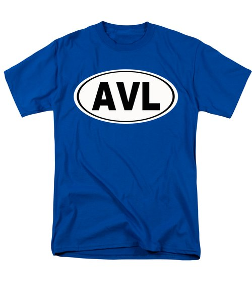 Men's T-Shirt  (Regular Fit) featuring the photograph Oval Avl Asheville North Carolina Home Pride by Keith Webber Jr
