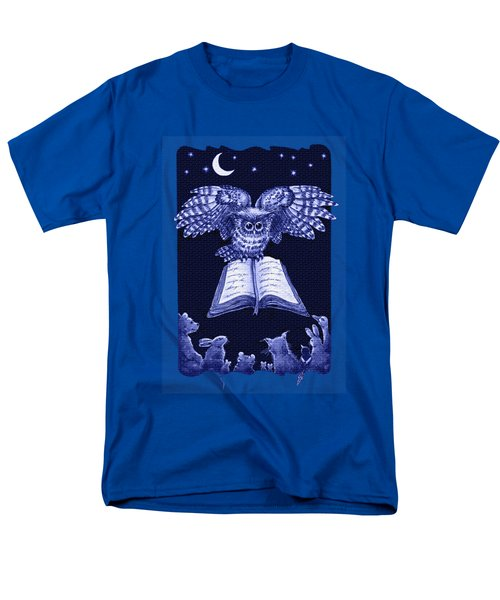 Owl And Friends Indigo Blue Men's T-Shirt  (Regular Fit) by Retta Stephenson