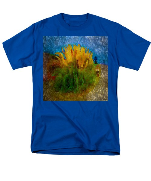 Men's T-Shirt  (Regular Fit) featuring the photograph Pampas Grass by Iowan Stone-Flowers