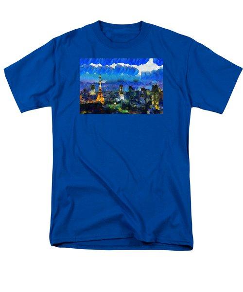 Paris Inside Tokyo Men's T-Shirt  (Regular Fit) by Sir Josef - Social Critic - ART