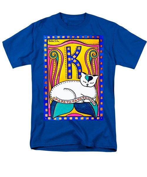 Peace And Love - Cat Art By Dora Hathazi Mendes Men's T-Shirt  (Regular Fit) by Dora Hathazi Mendes