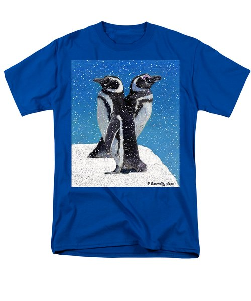 Penguins In The Snow Men's T-Shirt  (Regular Fit) by Patricia Barmatz