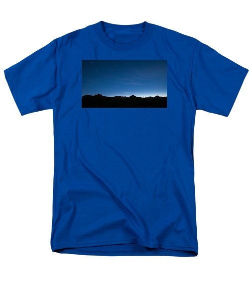 Men's T-Shirt  (Regular Fit) featuring the photograph Peralta Trail At Sunrise by Monte Stevens