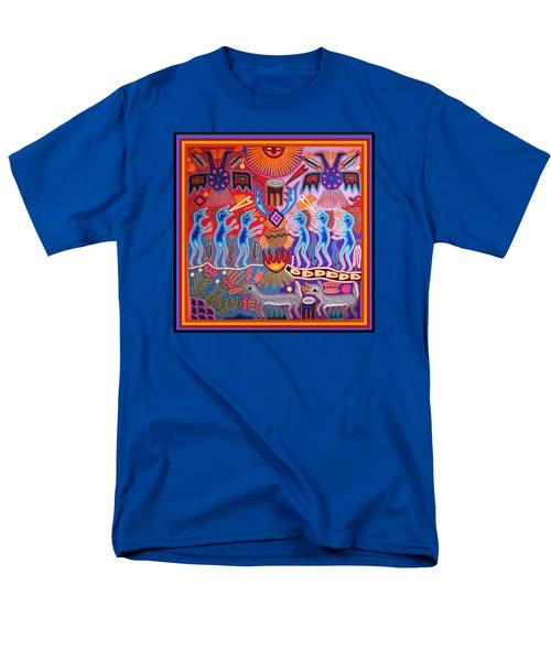 Peyote Shaman Hunting Ritual Men's T-Shirt  (Regular Fit) by Vagabond Folk Art - Virginia Vivier