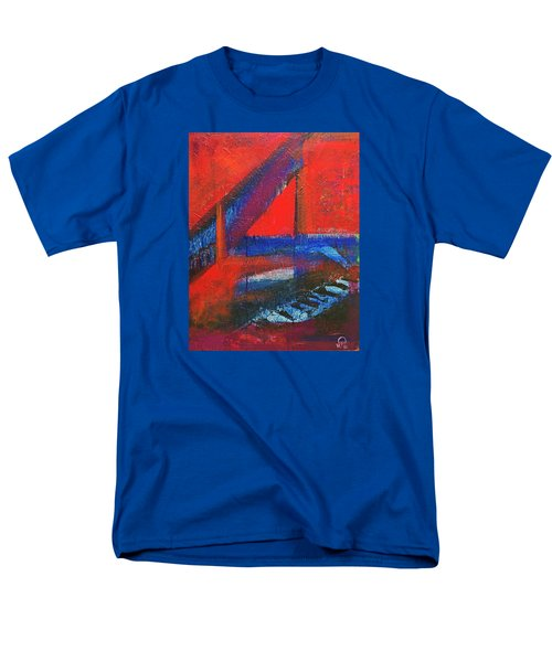 Piano In The Red Room Men's T-Shirt  (Regular Fit) by Walter Fahmy