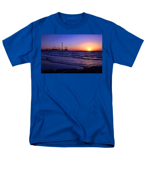 Pleasure Pier Sunrise Men's T-Shirt  (Regular Fit) by Judy Vincent