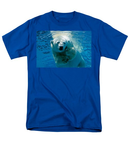 Men's T-Shirt  (Regular Fit) featuring the photograph Polar Bear Contemplating Dinner by John Haldane