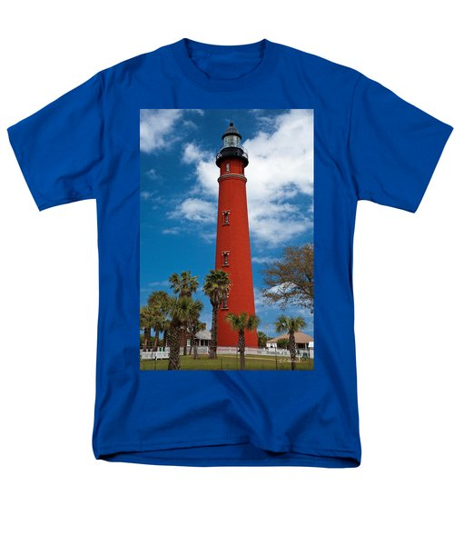 Ponce Inlet Lighthouse Men's T-Shirt  (Regular Fit) by Christopher Holmes