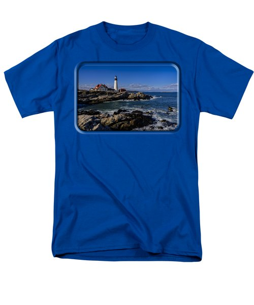 Portland Head Light No.32 Men's T-Shirt  (Regular Fit) by Mark Myhaver