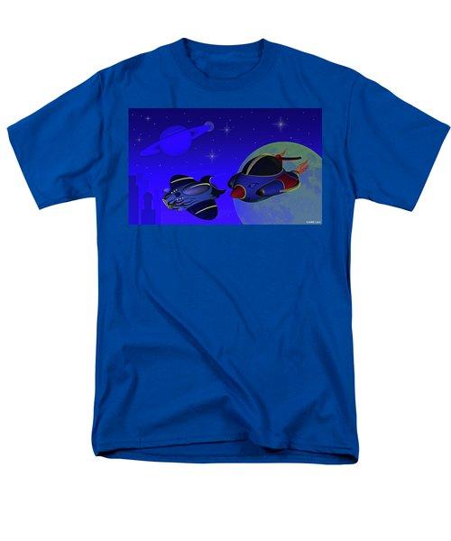 Race Thru Space Men's T-Shirt  (Regular Fit) by Ken Morris