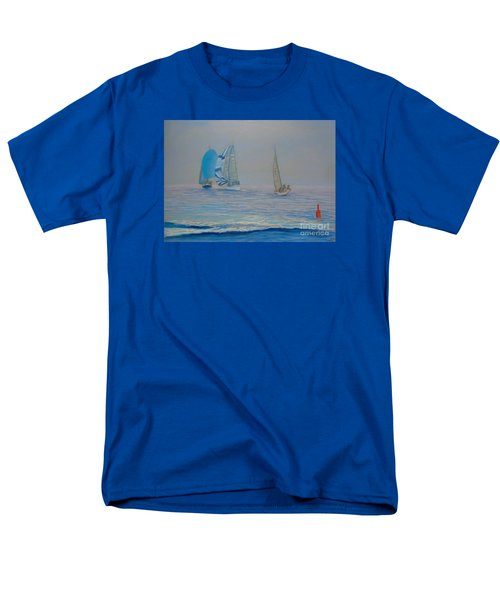 Raceing In The Fog Men's T-Shirt  (Regular Fit) by Rae  Smith