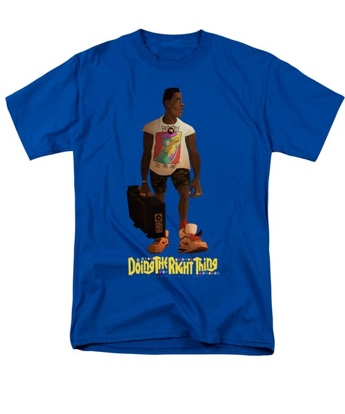 Men's T-Shirt  (Regular Fit) featuring the drawing Radio Raheem by Nelson Dedos Garcia