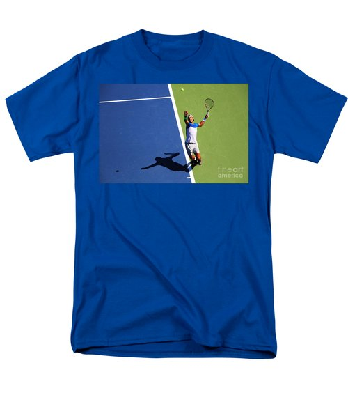 Rafeal Nadal Tennis Serve Men's T-Shirt  (Regular Fit) by Nishanth Gopinathan