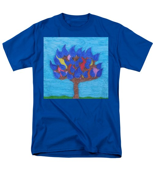 Rain Beauty Tree Men's T-Shirt  (Regular Fit)