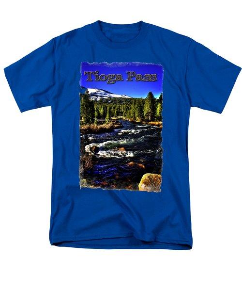 Rapids Along The Tioga Pass Road Men's T-Shirt  (Regular Fit) by Roger Passman