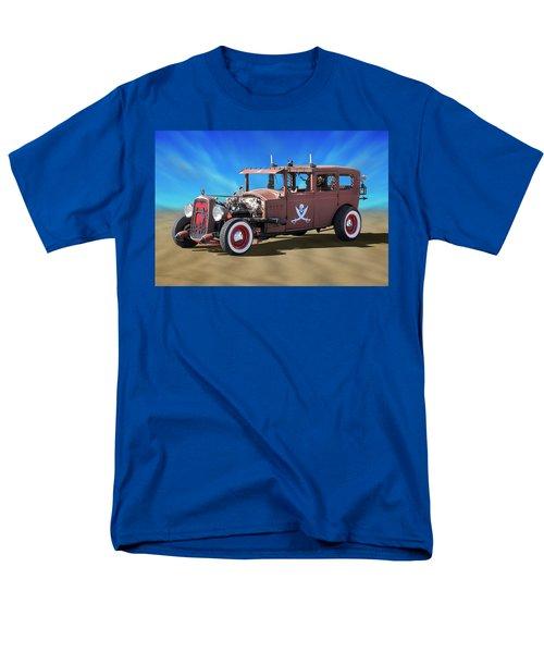 Men's T-Shirt  (Regular Fit) featuring the photograph Rat Rod On Beach 3 by Mike McGlothlen
