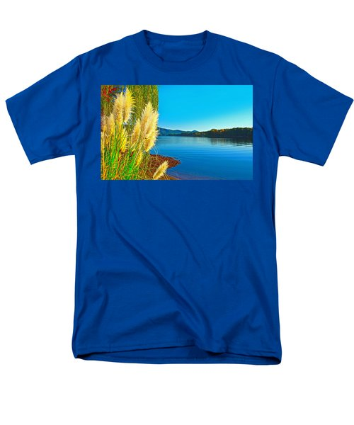 Ravenna Grass Smith Mountain Lake Men's T-Shirt  (Regular Fit) by The American Shutterbug Society