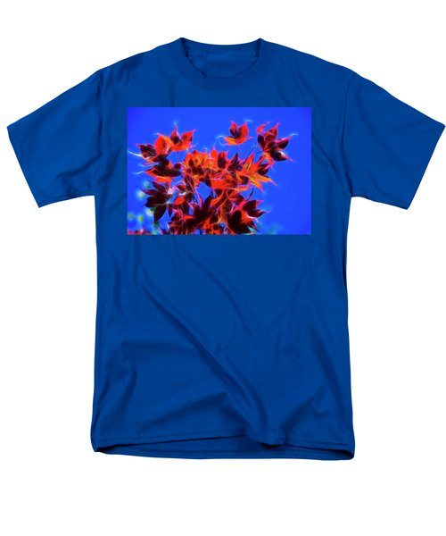 Men's T-Shirt  (Regular Fit) featuring the photograph Red Maple Leaves by Yulia Kazansky