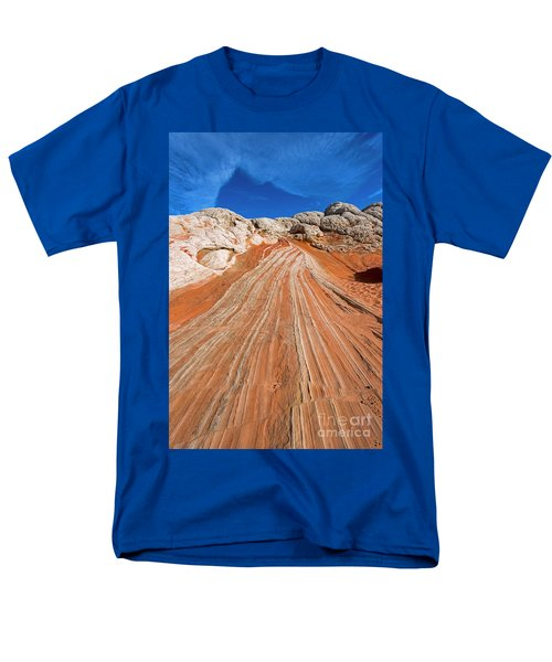 Men's T-Shirt  (Regular Fit) featuring the photograph Red Stone Highway by Mike Dawson