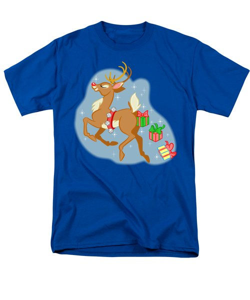 Men's T-Shirt  (Regular Fit) featuring the digital art Reindeer Gifts by J L Meadows