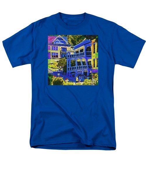 Roche Harbor Street Scene Men's T-Shirt  (Regular Fit) by Kirt Tisdale