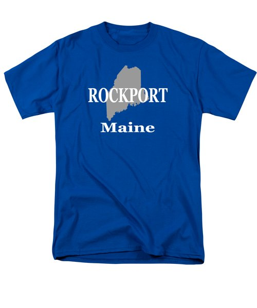 Men's T-Shirt  (Regular Fit) featuring the photograph Rockport Maine State City And Town Pride  by Keith Webber Jr