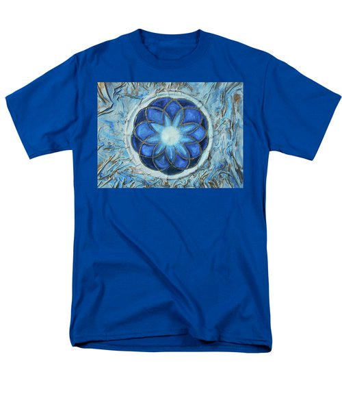 Men's T-Shirt  (Regular Fit) featuring the mixed media Sacred Geometry by Angela Stout