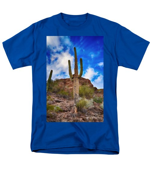 Men's T-Shirt  (Regular Fit) featuring the photograph Saguaro Cactus by Donna Greene