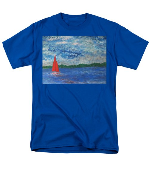 Men's T-Shirt  (Regular Fit) featuring the painting Sailing The Wind by John Scates