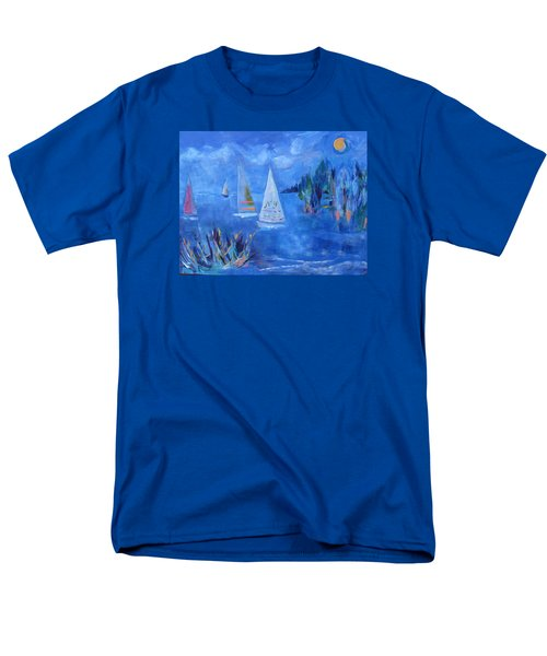 Men's T-Shirt  (Regular Fit) featuring the painting Sails And Sun by Betty Pieper