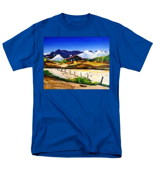 Men's T-Shirt  (Regular Fit) featuring the painting Salt Works - Port Alma by Therese Alcorn