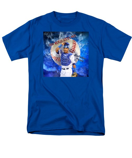 Salvador Perez 2015 World Series Mvp Men's T-Shirt  (Regular Fit) by Colleen Taylor