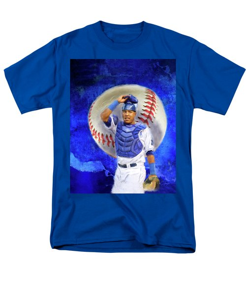 Men's T-Shirt  (Regular Fit) featuring the mixed media Salvador Perez-kc Royals by Colleen Taylor