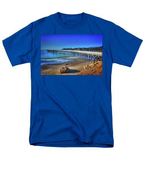 San Simeon Pier California Coast Men's T-Shirt  (Regular Fit) by James Hammond