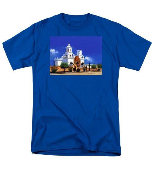Men's T-Shirt  (Regular Fit) featuring the painting San Xavier Del Bac Mission by M Diane Bonaparte