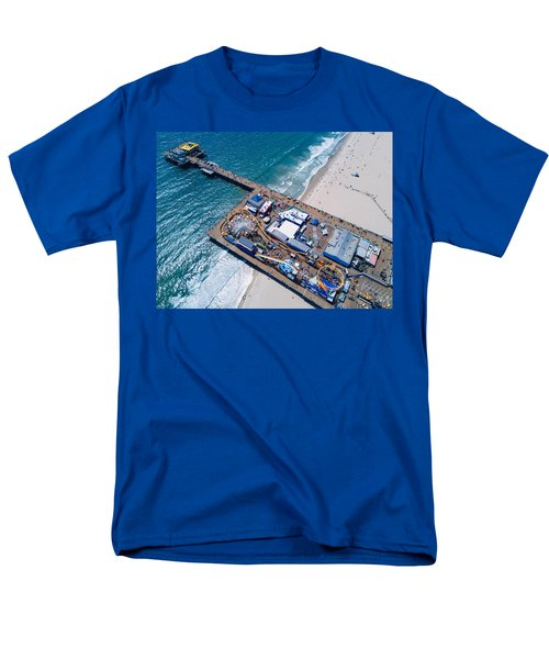 Santa Monica Pier From Above Side Men's T-Shirt  (Regular Fit)