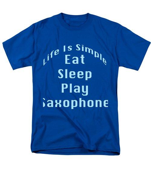 Saxophone Eat Sleep Play Saxophone 5515.02 Men's T-Shirt  (Regular Fit) by M K  Miller