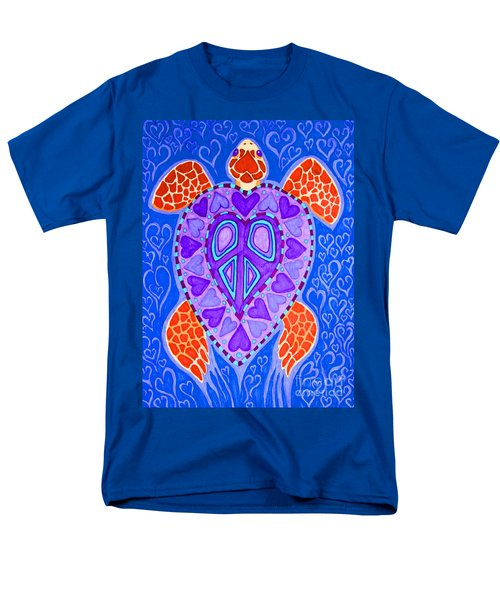 Sea Turtle Hearts 2 Men's T-Shirt  (Regular Fit) by Nick Gustafson