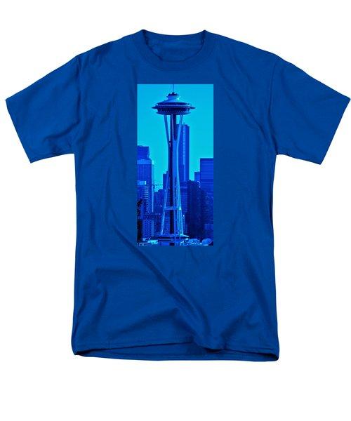 Seattle Blue Men's T-Shirt  (Regular Fit) by Martin Cline