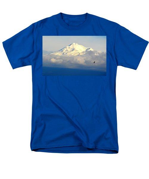 Shasta Near Sunset Men's T-Shirt  (Regular Fit) by AJ Schibig