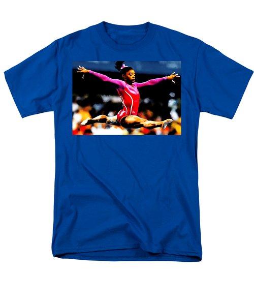Simone Biles Men's T-Shirt  (Regular Fit) by Brian Reaves