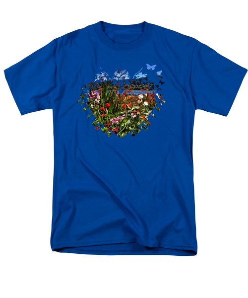 Siuslaw River Floral Men's T-Shirt  (Regular Fit) by Thom Zehrfeld