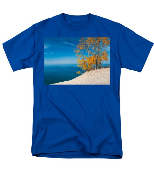 Sleeping Bear Dunes Vista 002 Men's T-Shirt  (Regular Fit) by Larry Carr